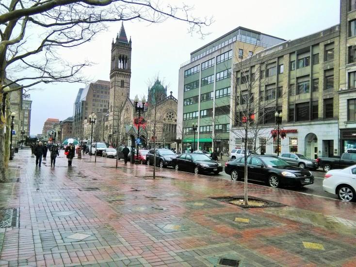 Suasana salah satu pusat kota di Amerika