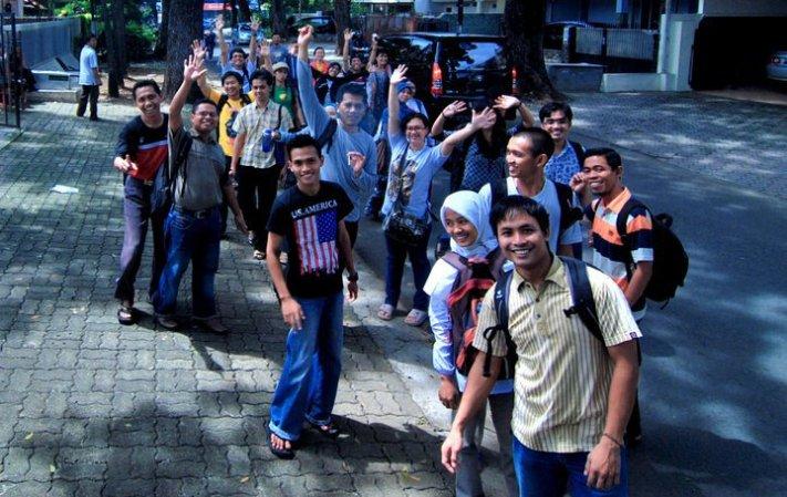 Pertama kali menginjakkan kaki di Jakarta - bersama penerima beasiswa IFP