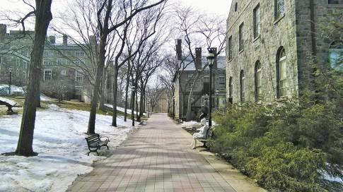 Suasana di penghujung musim dingin, mulai memasuki musim semi di Amerika..