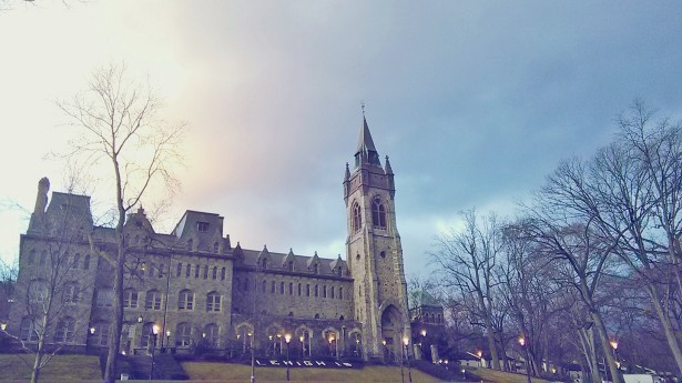 Suasana pagi hari Minggu lalu di University Center, Lehigh University